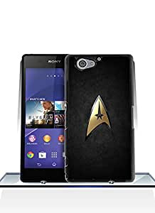 Cut Funda Case For Z2 Compact, Lovely Brand Logo [Star Trek Logo] Unique [Shock-Absorption] Flexible Plastic Material Hard Funda Case Cover Fit For Sony Xperia Z2 Compact (Only Fit For Z2 Compact)
