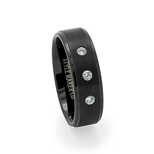 tungsten-carbide-mens-wedding-band-ring-inlay-black-plated-cz-13