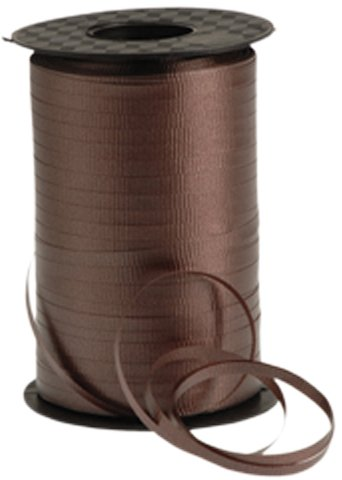 Curling - Ribbon Brown, For tying balloons etc ,500 Yards, 3/16