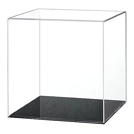 Acryl 200mm Cube Vitrine mit einer Auswahl von Basis Stile