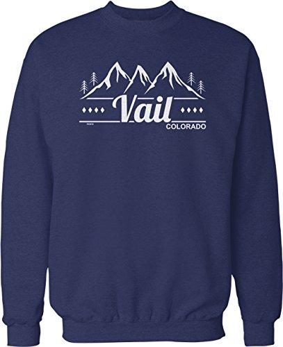 NOFO Clothing Co Vail, Colorado Crew Neck Sweatshirt, L Navy