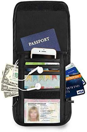カラフル リボンバナー パスポートホルダー セキュリティケース パスポートケース スキミング防止 首下げ トラベルポーチ ネックホルダー 貴重品入れ カードバッグ スマホ 多機能収納ポケット 防水 軽量 海外旅行 出張 ビジネス