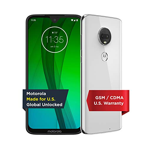 Motorola Moto G7 - Unlocked - 64 GB - Clear White (US Warranty) - Verizon, AT&T, T-Mobile, Sprint, Boost, Cricket, & Metro - PAE00010US