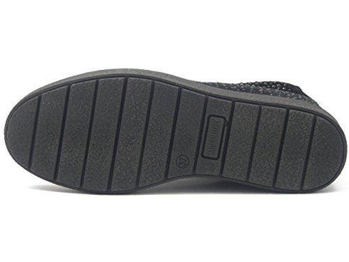 Interna Strass Cm Imac Donna E Stringato 82971ne Sneakers Osvaldo Pericoli Zeppa Camoscio Stivaletto Cerniera In Con Nero 3 6qUFavxwSF