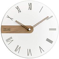 Stephanie Imports Modern Minimalist Raw Wood (Roman) Wall Clock