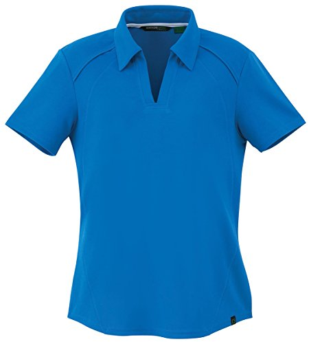 North End Womens Recycled Polyester Perf Piqué Polo (78632) -LT (Recycled End)