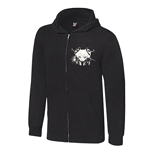 WWE Alexa Bliss Twisted Bliss Youth Lightweight Hoodie Sweatshirt Black/White Medium by WWE Authentic Wear