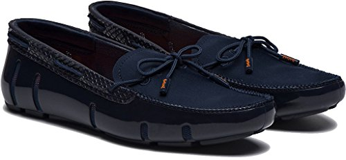 Swims Womens Lace Loafer Navy/Python Size 37 by SWIMS