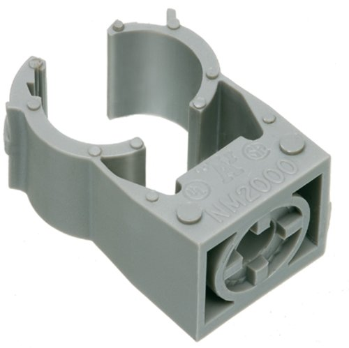 Arlington NM2010-100 Gray One-Piece Non-Metallic UV-Rated Quick-Latch Pipe Hanger, 100-Pack, 3/4-Inch EMT ()