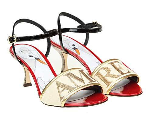 Cr0572ah93987767 Sandalias Oro Dolce Gabbana Mujer Cuero E BxRwtYwZ