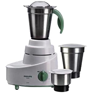 Philips HL1606 500-Watt Mixer Grinder with 3 Jars (Green)