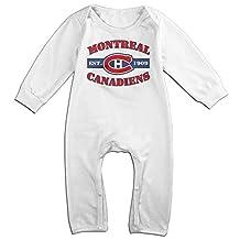 HOHOE Newborn Montreal Canadiens Long Sleeve Romper Bodysuit
