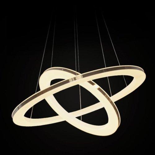 (LightInTheBox Acrylic Pendant LED Ring Light,1 light, Modern Chic Stainless Steel Plating Home Ceiling Light Fixture Flush Mount, Pendant Light Chandeliers Lighting Warm White)