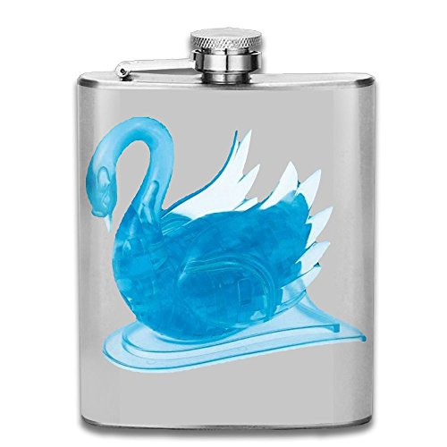 SmallHan Blue Swan Good Quality 304 Stainless Steel Flask 7oz (Bella Swan Jacket)