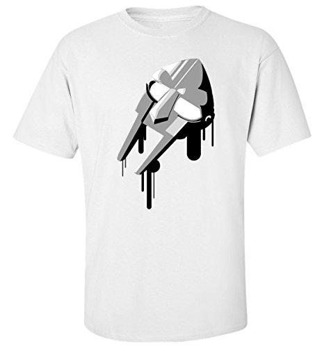 Mf doom silver mask paint dope rap hip hop madvilain t-shirt herren baumwoll weiss
