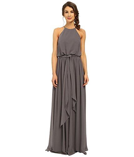 Donna Charcoal Blouson Women's Halter Gown Alana Morgan aYPrqnaUR