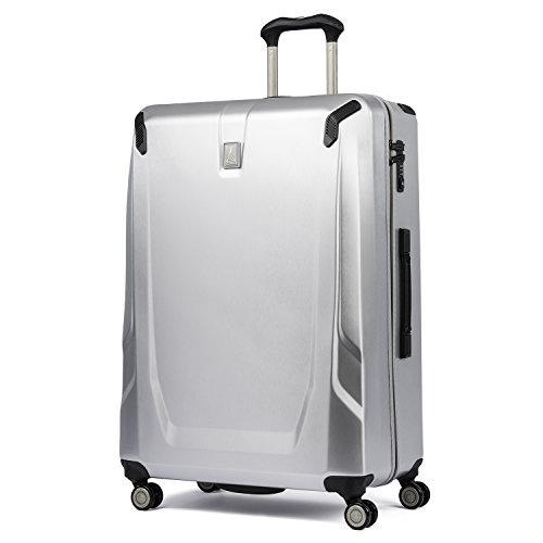 Travelpro Luggage Crew 11 29' Polycarbonate Hardside Spinner Suitcase, Silver