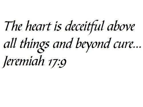Tapestry Of Truth - Jeremiah 17:9 - TOT5693 - Wall and home scripture, lettering, quotes, images, stickers, decals, art, and more! - The heart is deceitful above all things and beyond cure... Jere... Jere Wall