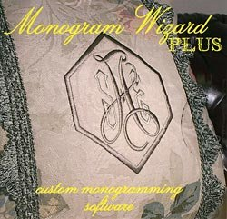 Monogram Wizard Embroidery - Monogram Wizard Plus Embroidery Lettering Software Special Edition