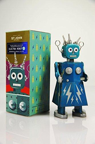 st-john-retro-electra-robot-ii-wind-up-tin-toy