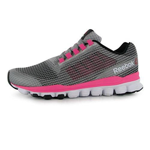 Reebok hexaffect Storm Chaussures de Course à Pied pour Femme en Acier Rose/Fitness Formateurs Sneakers