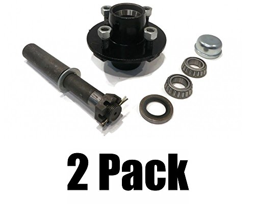 The ROP Shop (2) Trailer AXLE KIT Assemblies w/ 4 on 4