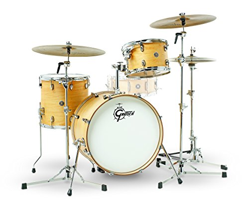 Gretsch Drums Gretsch CT1-J403-SN Catalina Club 3 Piece Shell Pack 14×20 Bass, 8×12 Suspended, 14×14 Floor Tom Satin Natural, inch (