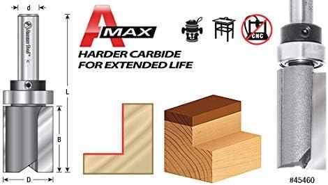 Amana Tool 45461 Carbide Tipped Flush Trim Plunge Template 1//2 Dia x 1-1//4 x 1//4 Sh