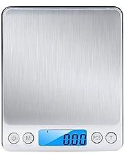Bascula Digital de cocina, WINSUNY balanza de cocina electronica con LCD Display,500g / 0.01g, mini bolsillo Escala de joyería, acero inoxidable bascula para alimentos,g/oz/ozt/dwt/ct/gn(Silver)