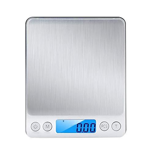 Bascula Digital de cocina, WINSUNY balanza de cocina electronica con LCD Display,500g / 0.01g, mini bolsillo Escala de...