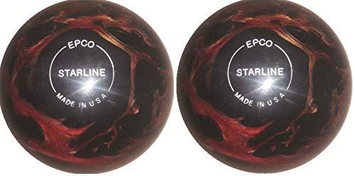 EPCO-Duckpin-Bowling-Ball-Starline-Wine-Bronze-Black-Pearl-2-Balls