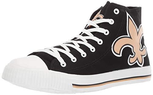 FOCO NFL Mens High Top Big Logo Canvas Shoe - Mens, New Orleans Saints, Small