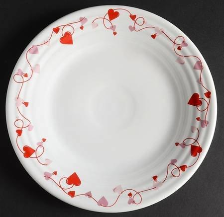 Fiesta Valentine Luncheon Plate