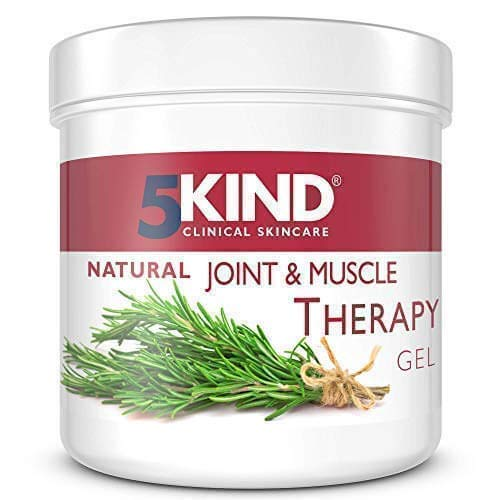 Natural Joint and Muscle Therapy Gel by 5kind Full of Natural Extracts to Help Soothe Muscle Knee Joint Hand Back - Large 300ml Tub