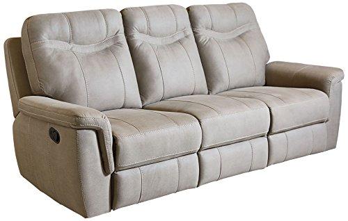 Grey Microfiber Motion Sofa (Standard Furniture 4017391 Boardwalk Sofa with Manual Motion, Fabric Stone)