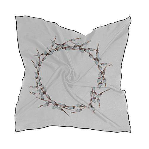 Women's Soft Polyester Silk Scarf, 35