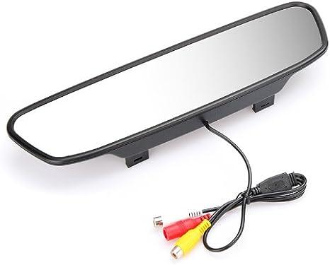 Kkmoon Digital Farbe Auto Rückspiegel Mit 5 Monitor Tft Lcd Display Bildschirm Für Rückfahrkamera Dvd Vcr