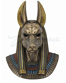 - Bronze Finished Anubis Egyptian God Bust Wall Plaque 14