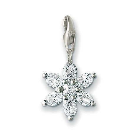 Thomas Sabo Flower White Charm, Sterling Silver