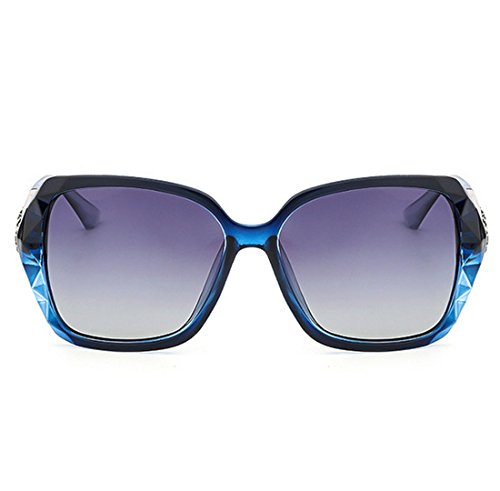 High Purple Versión UV End para Coreana Gafas Resina Lady Perspective Light Blue Elegante 99 De QQBL Polarizadas Anti Visible PC Sol De UV400 IA1dqv