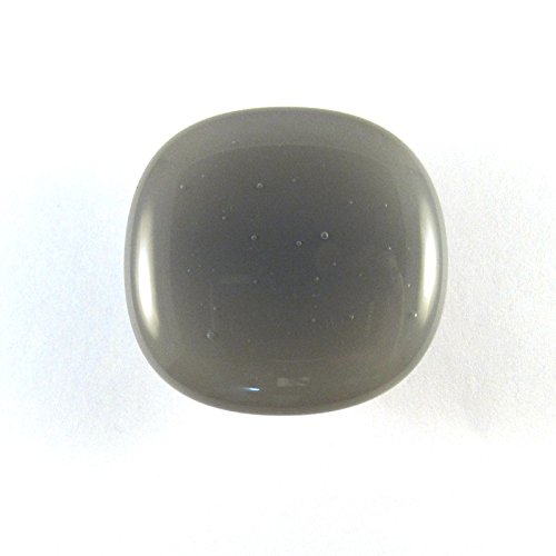 Smoke Glass Cabinet Knob - Colormax Collection (118 colors) Rounded Square Grey Glass (118 Knob)