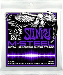 Ernie Ball M Steel Power Slinky Electric Guitar Strings 11-