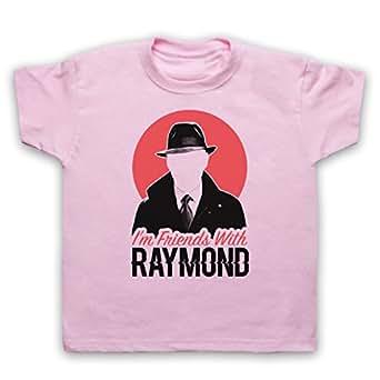 Blacklist I'm Friends With Raymond Camiseta para Niños, Rosa Claro, 12-13 Años