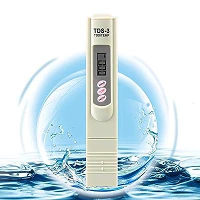 TDS Meter, Water Quality Tester Filter Pen, Accuracy Testing Water Quality for Drinking Water Purity Test, Swimming Pools, Aquariums, Etc.