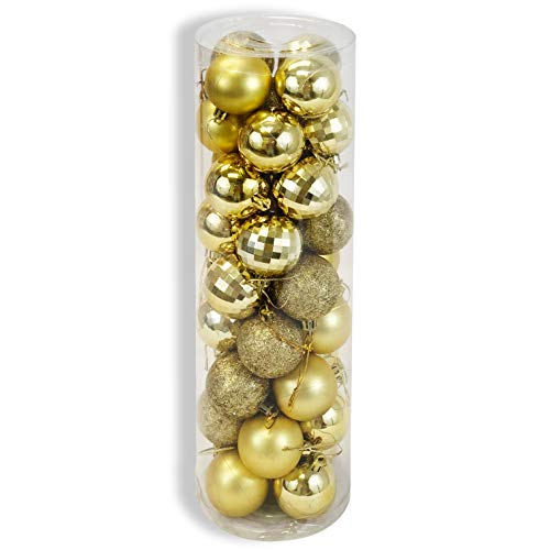 allgala Christmas Tree Ornament Balls, 36 PK 4 Style 2