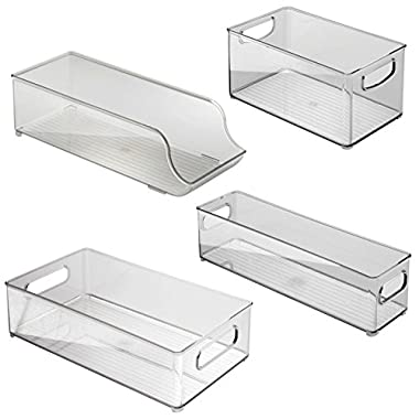 InterDesign Fridge and Freezer Storage Bins 4-piece, Clear