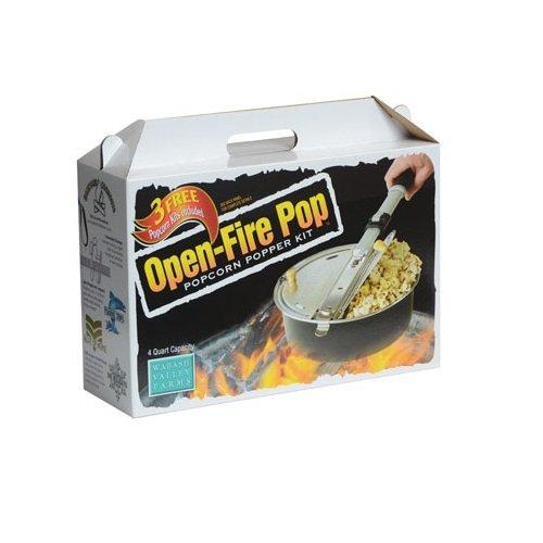 Open Fire Pop Popcorn Popper Wabash Valley Farms 27000