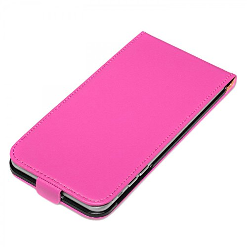 deinPhone iPhone 7 / iPhone 8 beschichtetes Leder Flip Case Hülle Pink