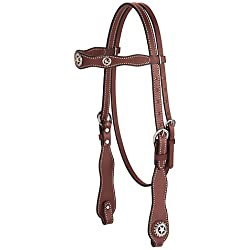 Weaver Texas Star Scalloped Browband Headstall