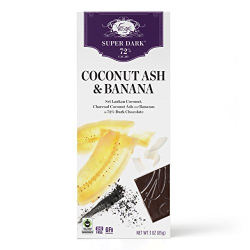 Vosges Haut-Chocolat, Coconut Ash & Banana Super-Dark Chocolate Bar, 3...
